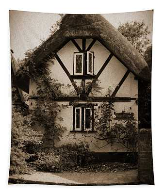 Rags Corner Cottage Nether Wallop Olde Sepia Tapestry