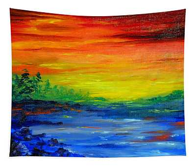 Rainbow Back Waters Tapestry