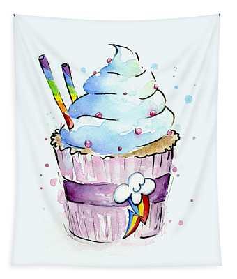 Rainbow-dash-themed Cupcake Tapestry