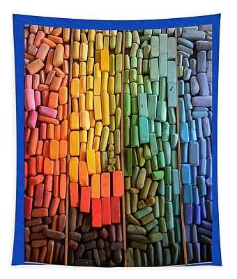Rainbow Of Pastel Chalk  Tapestry