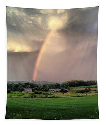 Rainbow Poured Down Tapestry