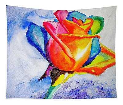 Rainbow Rose Tapestry