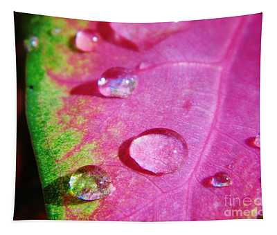 Raindrop On The Leaf Tapestry