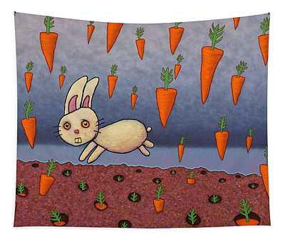 Raining Carrots Tapestry