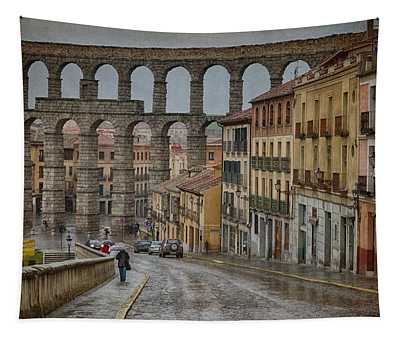 Rainy Afternoon In Segovia Tapestry