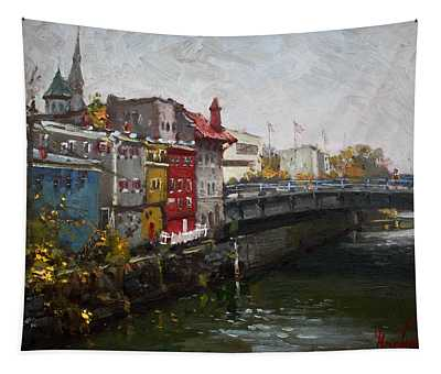 Rainy Day In Lockport Tapestry