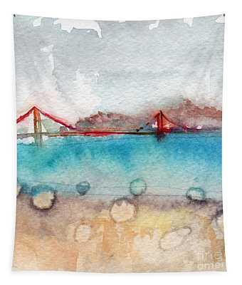Rainy Day In San Francisco  Tapestry