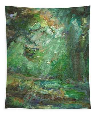 Rainy Woods Tapestry
