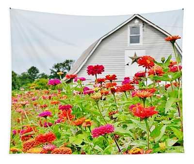 Raising Zinnia Flowers - Delaware Tapestry