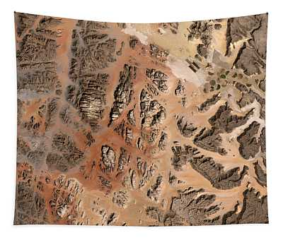 Ram Desert Transjordanian Plateau Jordan Tapestry