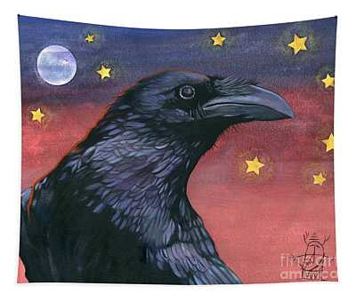 Raven Steals The Moon - Moon What Moon? Tapestry