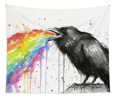 Raven Tastes The Rainbow Tapestry
