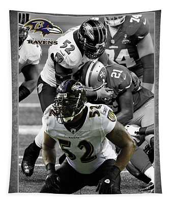 Ray Lewis Ravens Tapestry