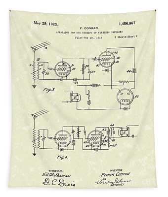 Receiver 1923 Patent Art Tapestry