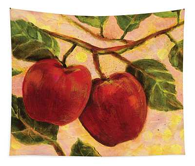 Red Apples On A Branch Tapestry