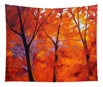 Red Blaze Tapestry