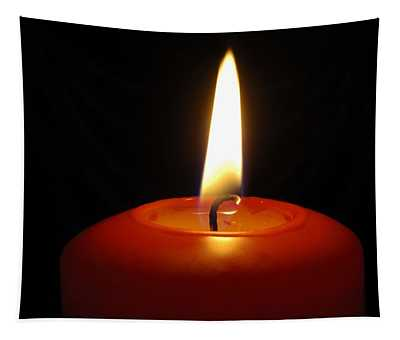Red Candle Burning Tapestry