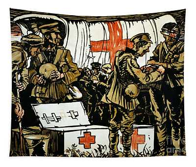Red Cross Poster, 1915 Tapestry
