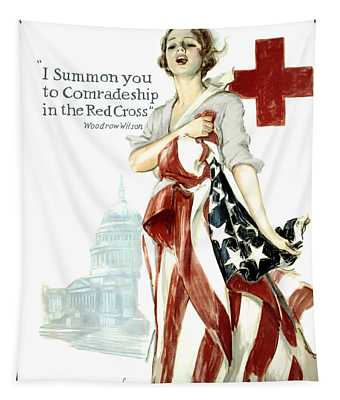 Red Cross World War 1 Poster  1918 Tapestry