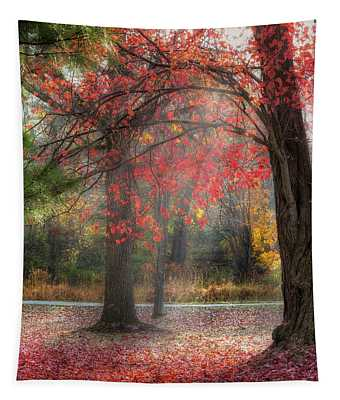 Red Dawn Square Tapestry
