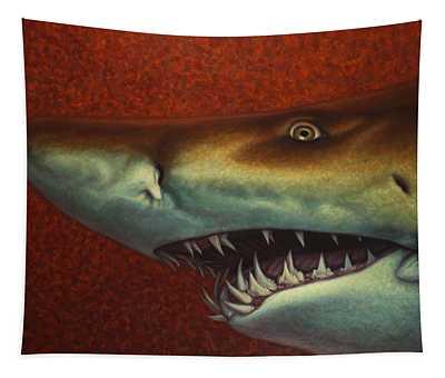 Red Sea Shark Tapestry