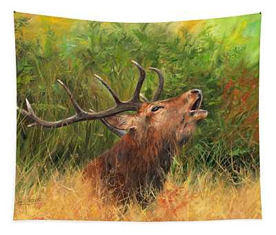 Red Stag Tapestry
