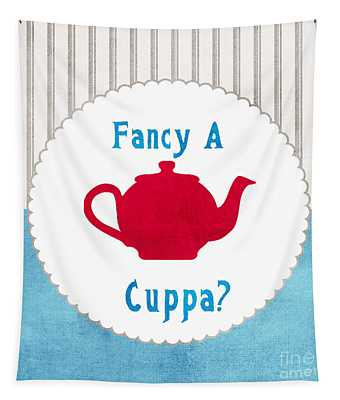 Red Teapot Tapestry