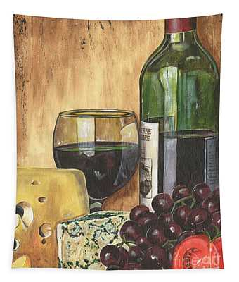 Red Wine And Cheese Tapestry