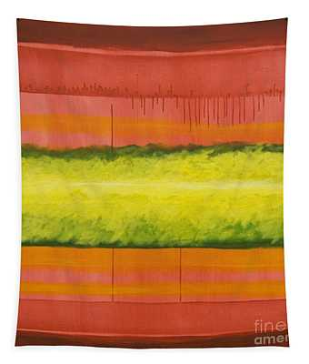 Red Yellow And Green Tapestry