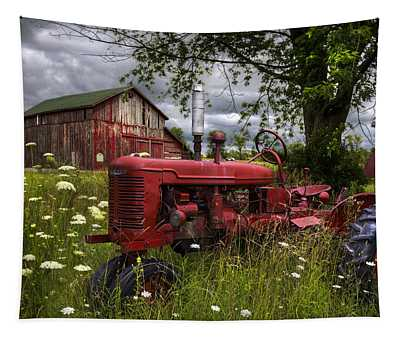 Reds In The Pasture Tapestry