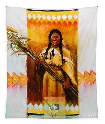 Reed Gatherer Tapestry