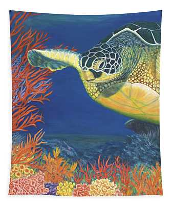 Reef Rider Tapestry