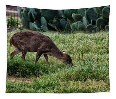 Reeves Muntjac Deer Doe Tapestry