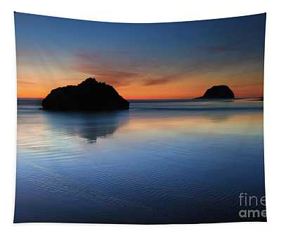 Reflections At Dusk Tapestry