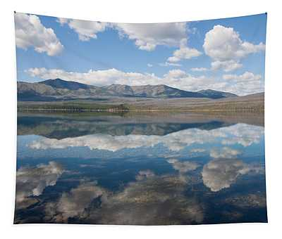 Reflections At Glacier National Park Tapestry