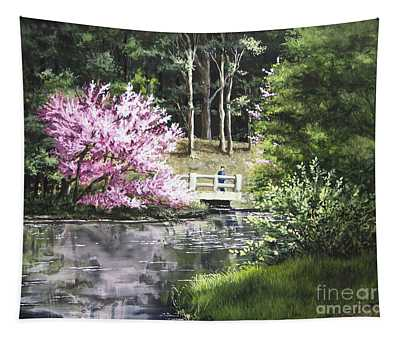 Reflections Of Spring Tapestry