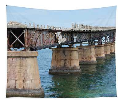 Relic Of The Old Florida Keys Overseas Railroad Tapestry
