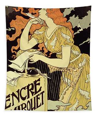 Reproduction Of A Poster Advertising 'marquet Ink' Tapestry