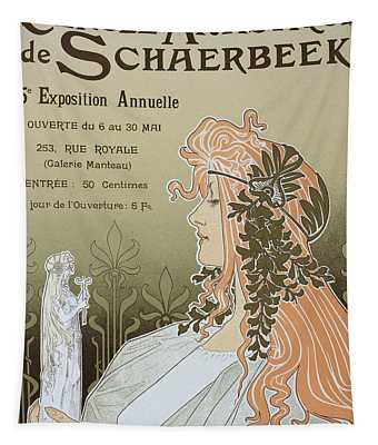 Reproduction Of A Poster Advertising 'schaerbeek's Artistic Circle Tapestry