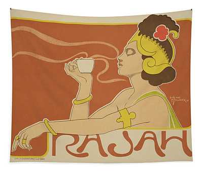 Reproduction Of A Poster Advertising The 'cafe Rajah' Tapestry