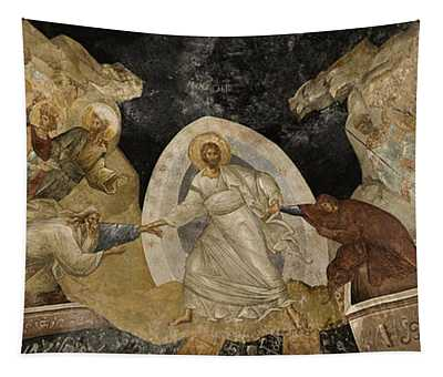 Resurrection Of Adam And Eve Panorama Tapestry