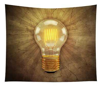 Retro Light Bulb Tapestry
