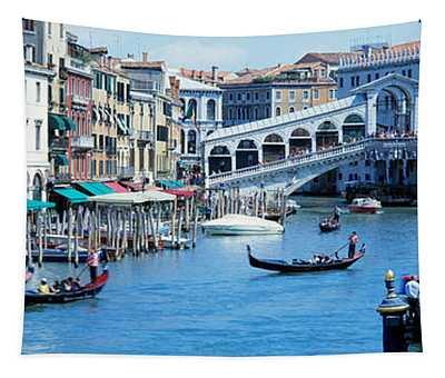 Rialto Bridge & Grand Canal Venice Italy Tapestry