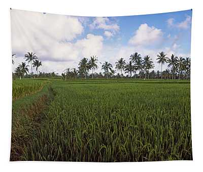 Rice Field, Bali, Indonesia Tapestry