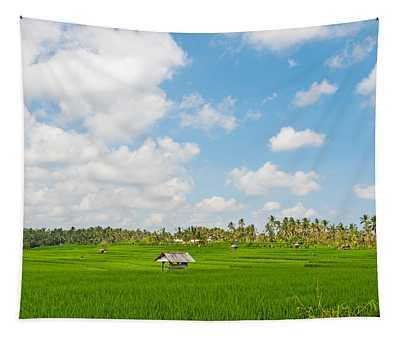 Rice Field, Rejasa, Penebel, Bali Tapestry
