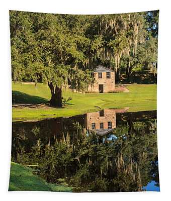 Rice Mill  Pond Reflection Tapestry