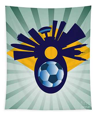 Rio Skyline With Ball Tapestry