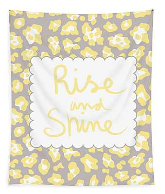 Rise And Shine- Yellow And Grey Tapestry