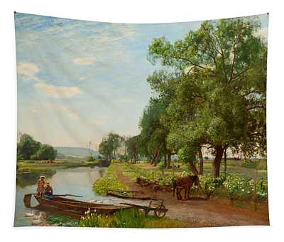 River And Rail, 1896 Tapestry