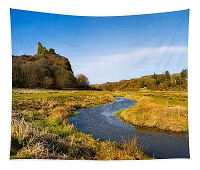 River Flowing Through Landscape Tapestry
